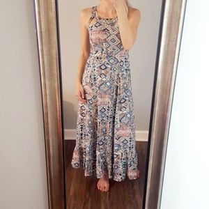 Solitair Aztec Print Maxi Dress